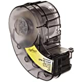 """Brady XPS-187-CONT IDXPERT PermaSleeve 0.187"""" Diameter, 0.335"""" Height, 8' Width, B-342 PermaSleeve Heat-Shrink Polyolefin, Black On White Color Wire Marker Sleeves"""