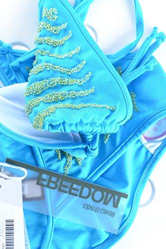 Roberto Cavalli Mujer MCBI258001O Azul Claro Poliamida Biquini