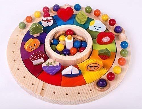 Montessori Wooden Toy Calendar For Children 1299 In Diameter With