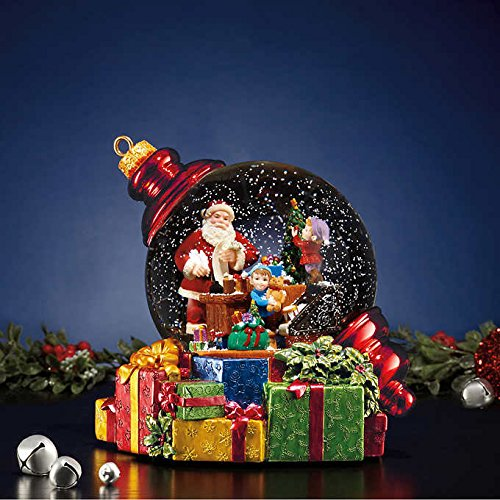 Santa Waterglobe with LED Lights (Snowblower Battery Operated)