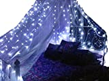 Basik Nature Mosquito Net Round Canopy De-Luxe Bundle with 2 BLUE Fairy Lights Battery Powered (King/Queen Size) For Sale