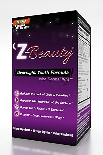 Z-BEAUTY--OVERNIGHT ANTI-AGING FORMULA- Night Time Skin Care breakthrough! Achieve a deeper more productive sleep while firming, toning and beautifying skin from the inside out. 30 Veggie Caps by Fitness One Formulas