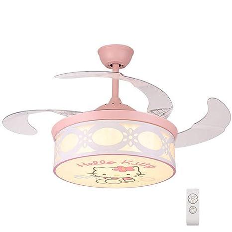 Ventiladores de techo con lámpara de luz ABS invisible Muto ...
