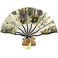 BranXin(TM) 1pcs with Gift bag Bamboo Hollow Flower Hand Fan Folding Pocket Fan Wedding Decoration mariage[ 19 ]