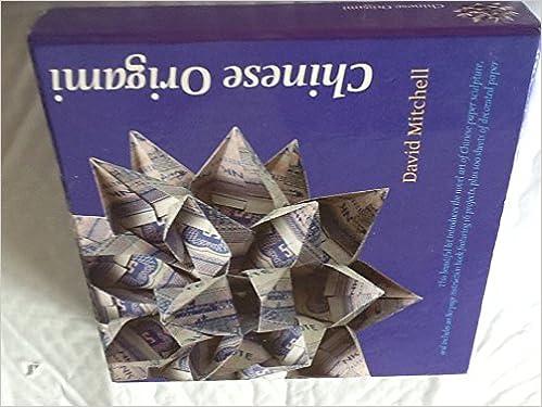 Chinese Origami Box Set Book Decorative Paper David Mitchell