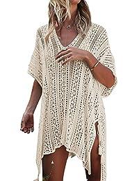 Women's Swimsuit Cover Up, Bohemia Sarong V-neck Beach Bikini Swimwear Crochet Dress