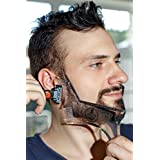 Manecode Beard Shaping Tool Or Template, Universal, Clear Shaper Or Trimming Guide Stencil With Built In Comb