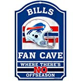 "WinCraft NFL Buffalo Bills 05388011 Wood Sign, 11"" x 17"", Black"