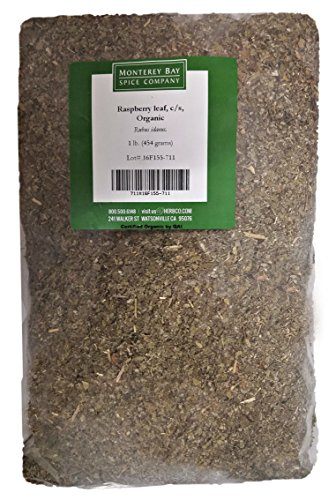CERTIFIED ORGANIC Raspberry Leaf Cut and Sifted 1 LB Bag –100% NATURAL, KOSHER Berries (Rubus idaeus)