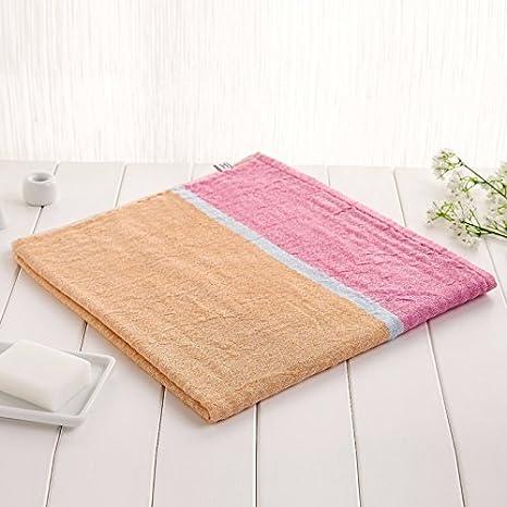 ZYJY decoración del hogar ZYJYConjuntos de toalla de baño algodón hombres y mujeres niños toallas de baño sin pelo toalla de baño 72 * 140cm,Pink: ...
