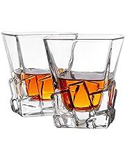 Cooko Iceberg Bicchieri da Whisky, Trasparenti Bicchieri Vino, Accessori Vino per Whisky, Cocktail,Bourbon,Succo,300ML Set di 2 (10.6 oz)
