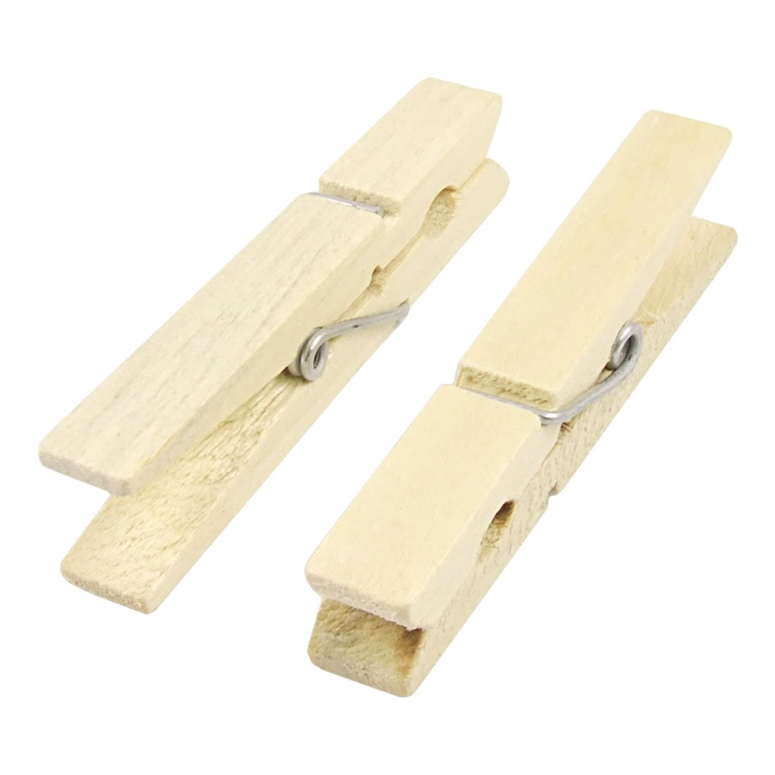100 Pcs Wood Clothespins Wooden Laundry Clothes Pins Large Spring Regular Size New