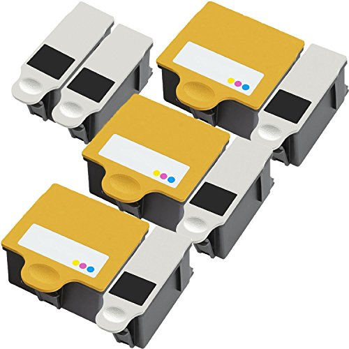 8 Pack (3 sets and 2 Black) MPC Direct® Replacement ink cartridges for Kodak 10B 10C 10 Ink Cartridges replacement for Kodak 10B Black 10C Color Combo Set