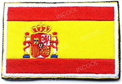 Parche bordado con diseño de estrella de la compra, bandera de España, parche militar con gancho y cierre táctico militar, parches de moral, emblema, apliques, insignias bordadas: bandera de España: Amazon.es: Hogar