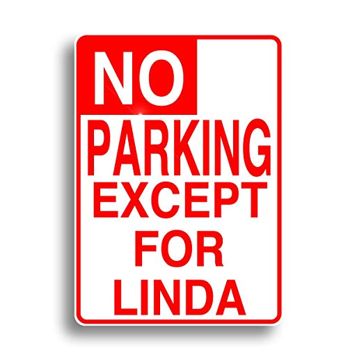 Personalized Parking Signs No (No Parking Sign, Personalized with Your Name Aluminum Sign for Garage Easy to Mount Indoor & Outdoor Use Metal Sign)