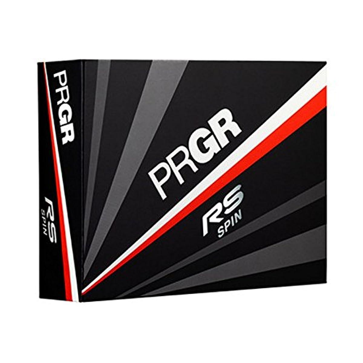 [해외] PRGR(프로기어) 골프 볼 18RSSPIN 볼 NEW RS SPIN PWH 12PC 펄 화이트
