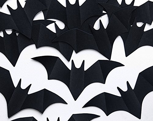10 Black Card Bat Shapes for Halloween Crafts - 7.5cm | Kids Halloween Crafts ()