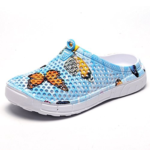 Beach BARKOR Shoes Garden Women's Quick Shoes Summer Walking Sandals Mesh Mens Clog Drying Blue2 BFPqBZw