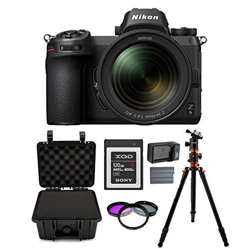 Nikon Z6 Mirrorless Digital Camera with 24-70mm Lens + 120GB XQD and Accessory Bundle