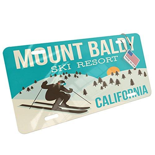 - NEONBLOND Mount Baldy Ski Resort - California Ski Resort Aluminum License Plate