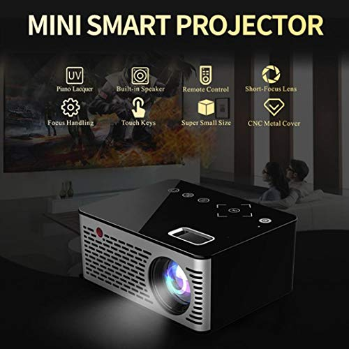 Hello22 Home Theater Projector, Native 1080p Full HD LED Video Projector - Up to 110Inch Size Big Screen,500 Lumens,Compatible with USB,HD,TF,etc for Business and Home from Hello22