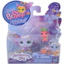 Littlest Pet Shop Fairies, Shimmering Sky, Morning Haze Fairy #2710, Luna Moth #2711
