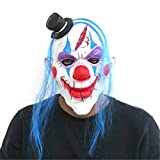YUFENG Halloween Latex Adult Killer Clown Mask With Hair,Halloween Costume Party Props Masks