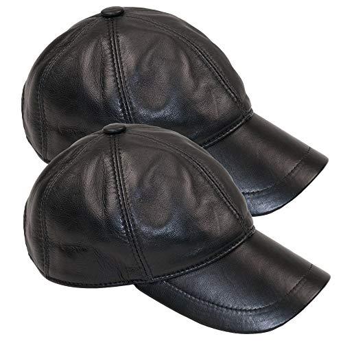 Sombrero Planas Dazoriginal Piel Béisbol 2P Gorra Hombre Gorras Mujer NEGRO Cuero Boina qS0A0H6nxW