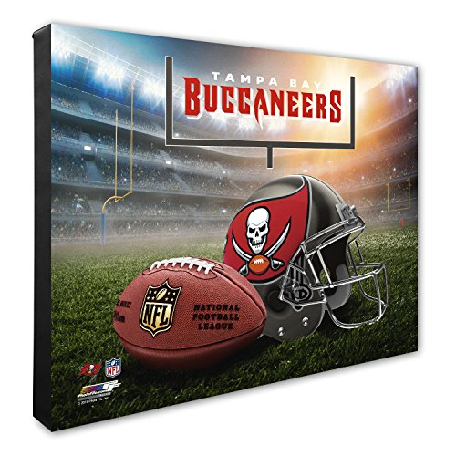 Photo File NFL Tampa Bay Buccaneers Helmet & Stadium High Resolution Canvas, 16