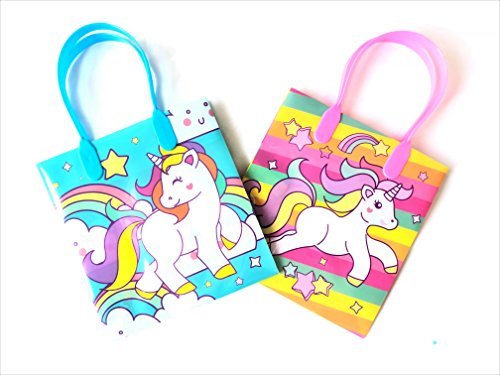 12 Pieces Disney Pixar Nickelodeon Birthday Goody Gift Loot Favor Bags Party Supplies (Unicorn Pony 2) ()