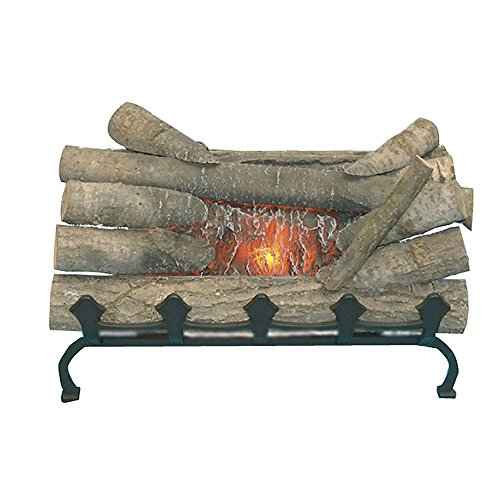Pleasant Hearth Natural Wood Electric Crackle Log with Grate Front, 20 in. L by Pleasant Hearth