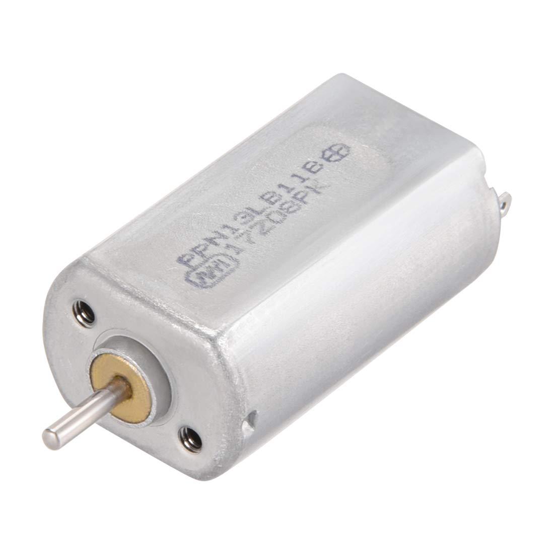 sourcing map DC Motor 3 6v 0.25a Eje el/éctrico del Motor el/éctrico para RC Barco Juguetes DIY Aficionado 2 unids