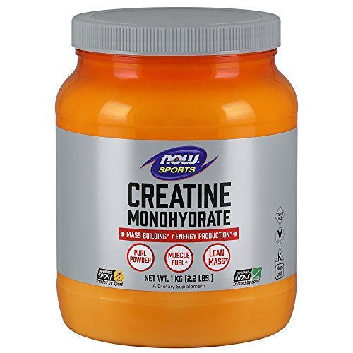 NOW Sports Nutrition, Creatine Monohydrate Powder, Mass Building*/Energy Production*, 2.2-Pound