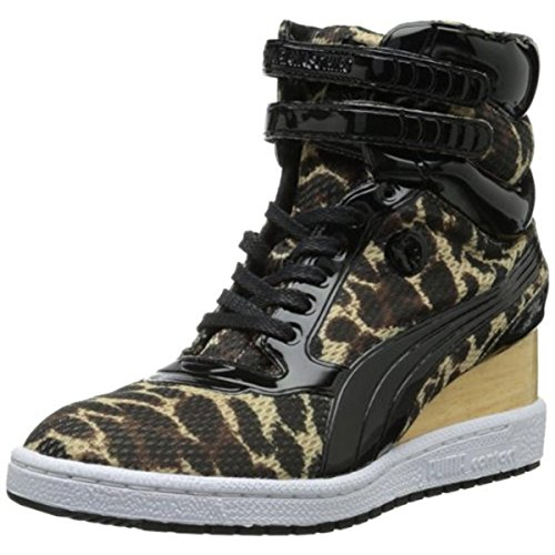 PUMA Women's MY-77 Leopard Lace-Up,Curds Whey,8.5 B US (Leopard Tennis Shoes For Women)