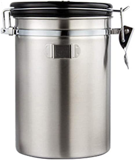 Tea Coffee Sugar Sealed Can Tins Canister Stainless Steel Storage Box