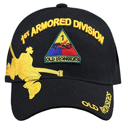 U.S. Military Cap Hat Vietnam Veteran ARMY MARINE NAVY AIR FORCE (1st Armored Division) (Hat Division Marine)