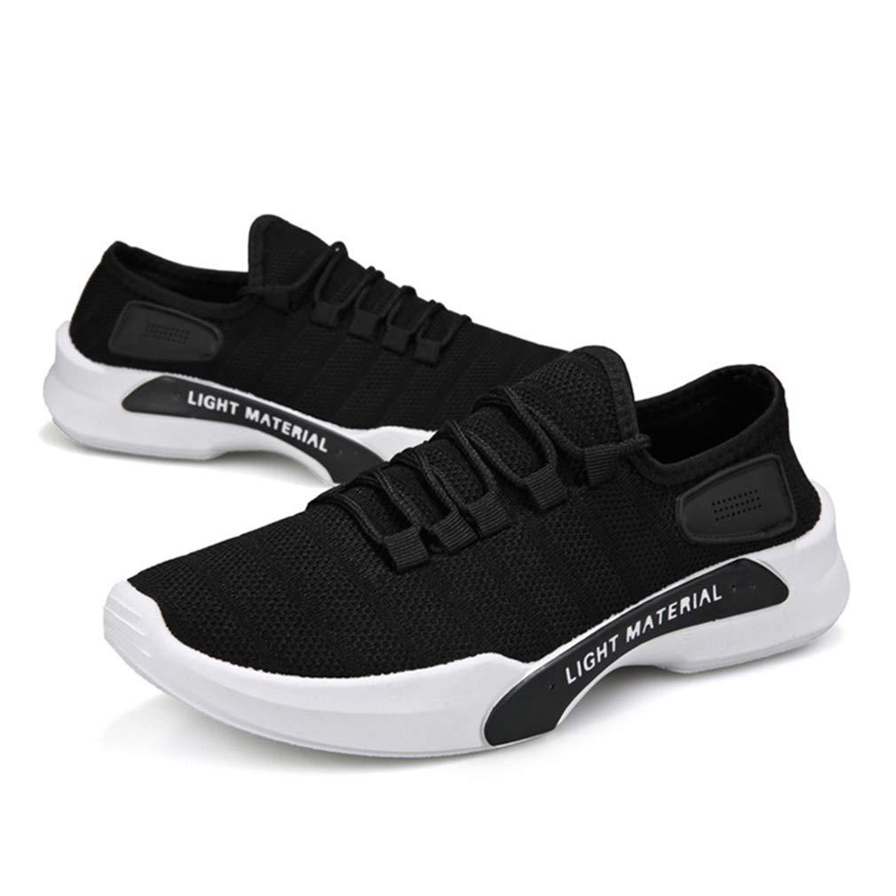 Zapatillas de Running para Hombre Moda Low Top Casuales Aire Libre Zapatos con Cordones Zapatillas de Deporte para Running Fitness Gym Sportive Negro//Gris//Blanco 39-44