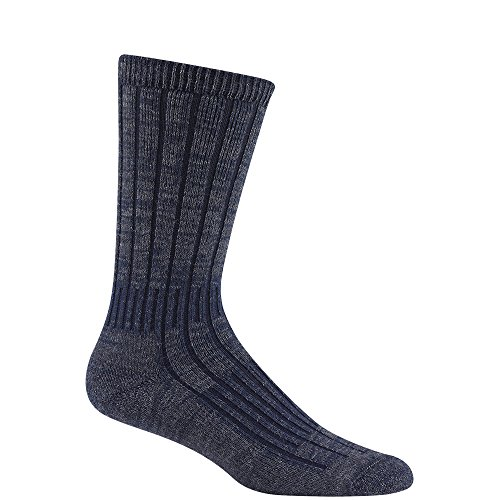 Wigwam Men's Merino/Silk Hiker Heavyweight Crew Socks,Charco