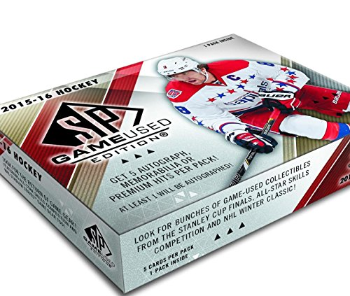 - 2015/16 Upper Deck SP Game Used NHL Hockey box (5 cards)