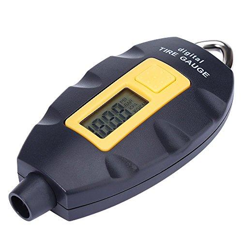 Digital Tire Pressure Gauge, Auzeuner Keychain Style Mini Tire Pressure Gauge Meter for Cars, Truck, Motorcycle, Mountain Bike Tire Pressure, 100PSI