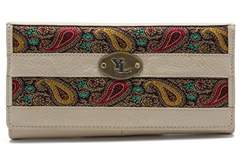 yl-womens-genuine-leather-clutch-wallet-purse-hipster-embroidery-lace-yl-01-beige
