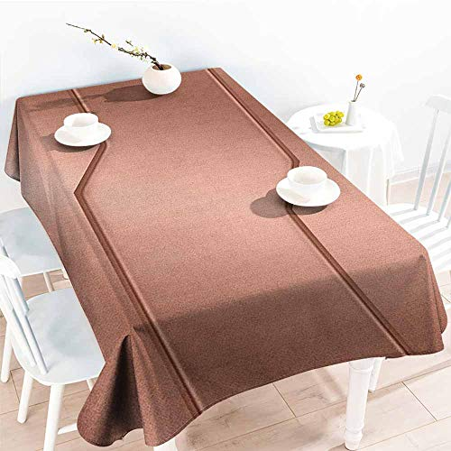 familytaste Copper,Table Cover Tablecloth Realistic Look Plate Bar Image Technology Inspired with Steel Surface Industry Print 60