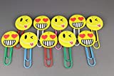 2 emoji giant paper clips emoji planner clip big huge smiley face heart eye wink