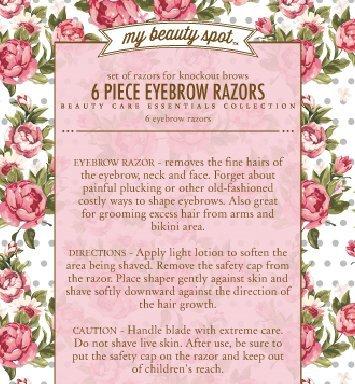 My Beauty Spot 6 Piece Precision Eyebrow Razor Set