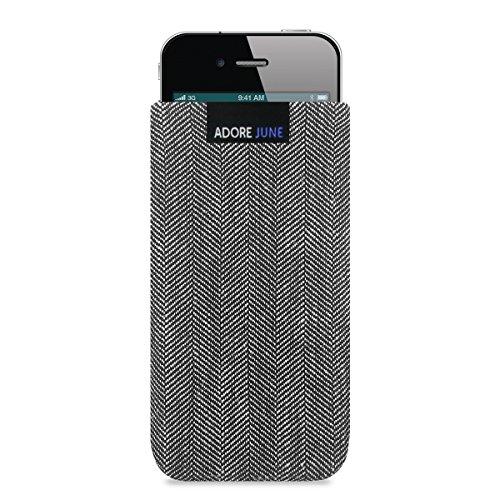 Adore June iPhone 4 Hülle, Handytasche [Serie Business] aus charakteristischem Material, Stofftasche Fischgrat-Stoff [Display-Reinigungseffekt] Apple iPhone 4 / Apple iPhone 4s Case Sleeve