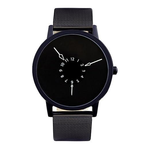 segunda mano de subversión y creativo reloj/Puntero tejido de acero único ángulo invertido de correa de reloj-F: Amazon.es: Relojes