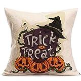 PENGYGY Happy Halloween Pillow Cases Linen Sofa Cushion Cover Home Decor Decorative Pillow Home Décor (D)