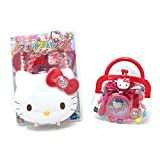 Muraoka Hello Kitty Face Hand Bag and Hello Kitty Purse Full of Accessories Toy Play Set for Kids (Hello Kitty Set)