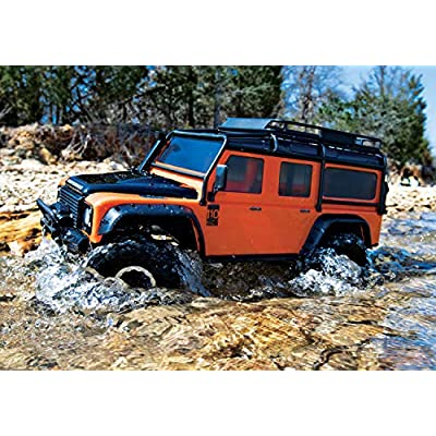 Traxxas 8011A Land Rover Defender Body, Adventure Orange: TRX-4: Toys & Games