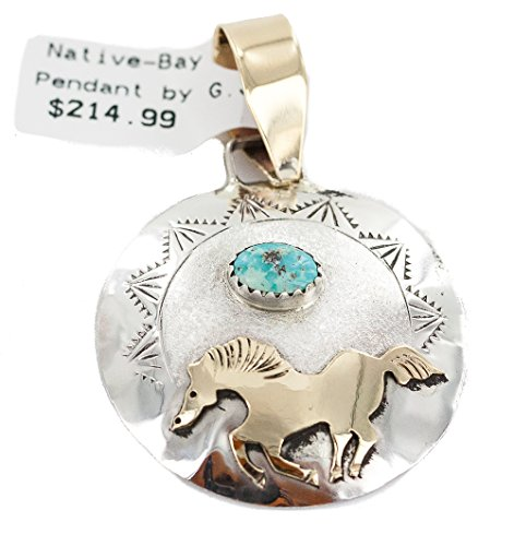 Very Delicate $215Tag 12ktGF Silver Horse Authentic Navajo Natural Turquoise Native American - Navajo Necklace Turquoise